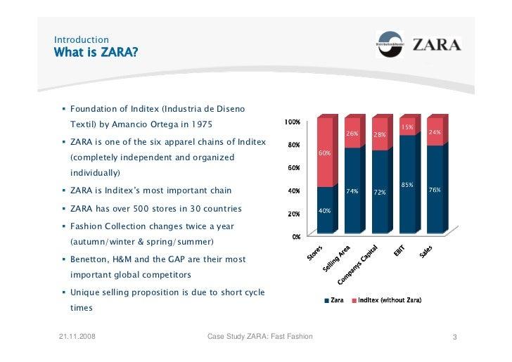 Introduction What is ZARA?        Foundation of Inditex (Industria de Diseno     Textil) by Amancio Ortega in 1975      ZA...