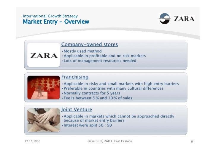 International Growth Strategy Market Entry - Overview      21.11.2008                     Case Study ZARA: Fast Fashion   6
