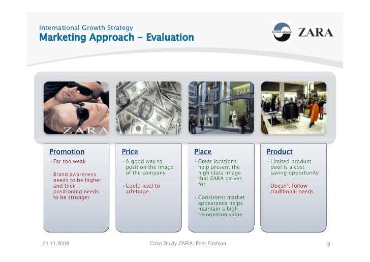 International Growth Strategy Marketing Approach - Evaluation      21.11.2008                     Case Study ZARA: Fast Fa...