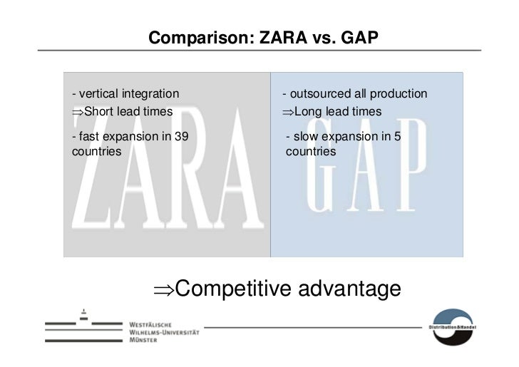 a comparison of gap and zara
