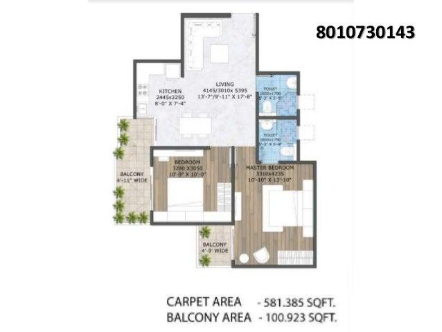 2bhk floor plan zara aavaas 3