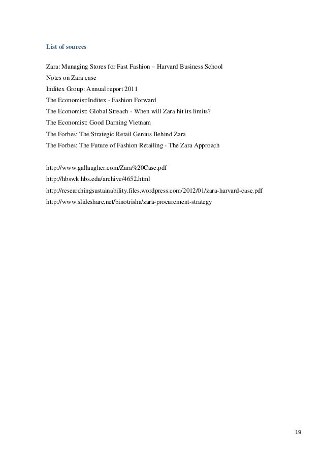 Zara fast fashion case analysis paper 24