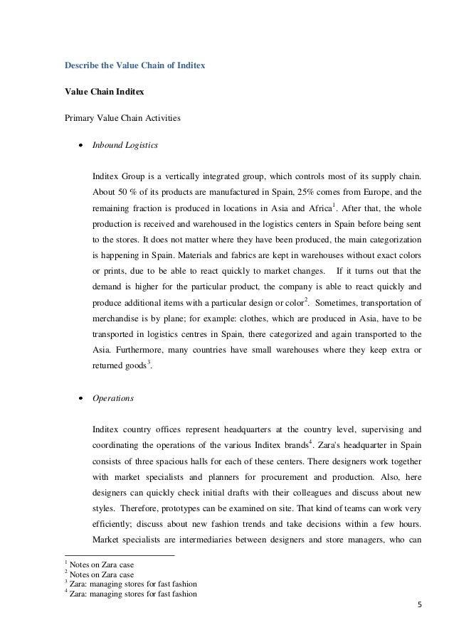 Zara fast fashion case analysis paper 72
