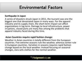 Zara swot & pestle analysis case study % original content