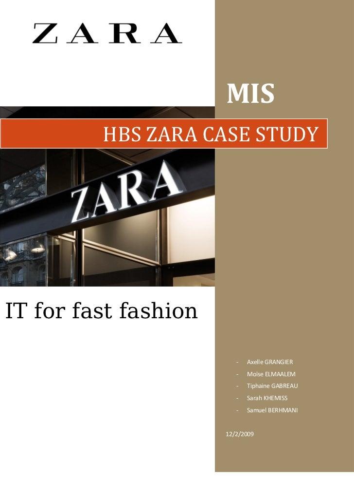 zara case study summary