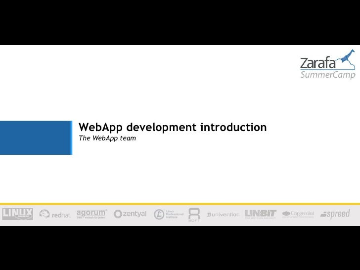WebApp development introductionThe WebApp team