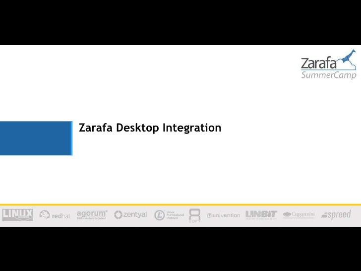 Zarafa Desktop Integration