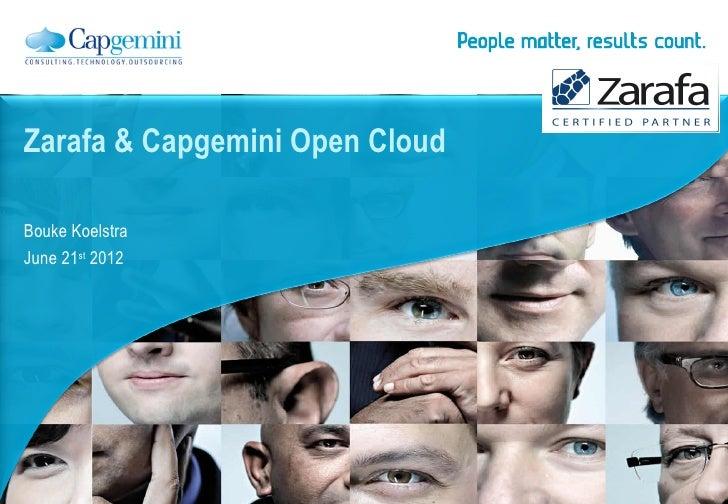 For internal use                                onlyZarafa & Capgemini Open CloudBouke KoelstraJune 21st 2012