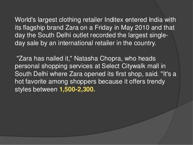 Case Study Zara the Technology Giant of the Fashion World Paper