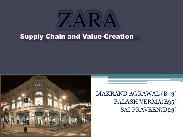 ZARA  Supply Chain and Value-Creation  MAKRAND AGRAWAL (B43) PALASH VERMA(E35) SAI PRAVEEN(D23)