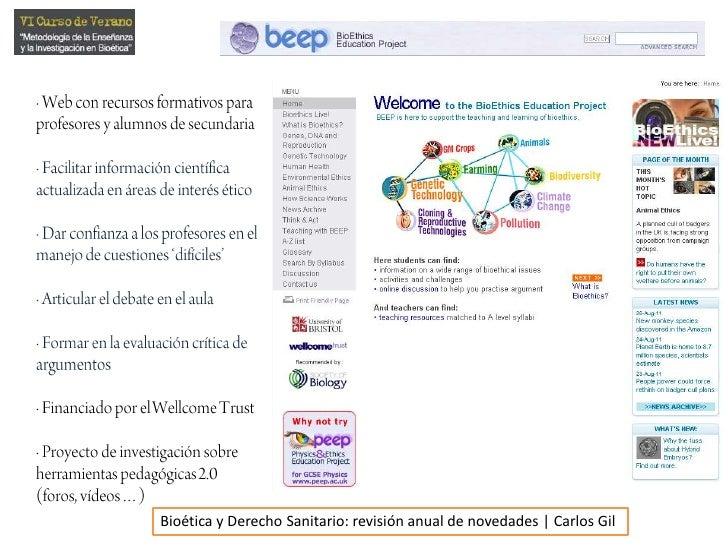 · Web con recursos formativos paraprofesores y alumnos de secundaria<br />· Facilitar información científicaactualizada en...