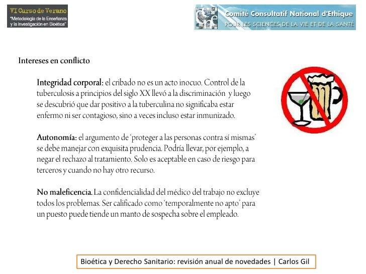 Intereses en conflicto<br />Integridad corporal: el cribado no es un acto inocuo. Control de la tuberculosis a principios ...