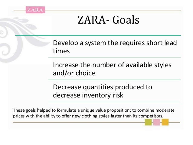 disadvantages of zara Zaras objectives, strategies and problems zara's objectives, strategies and problems 21 objectives the first objective for zara is to continue their expansion in countries like switzerland, italy, and czech republic and also on other continents.