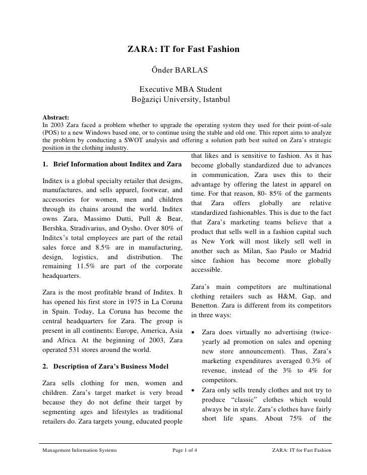 agile supply chain zaras case study analysis