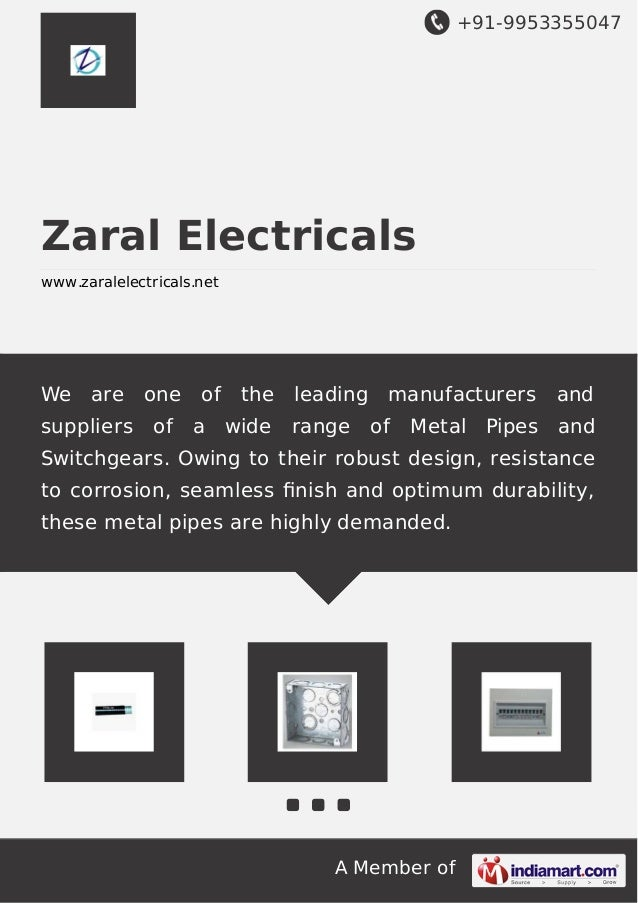 +91-9953355047 A Member of Zaral Electricals www.zaralelectricals.net We are one of the leading manufacturers and supplier...