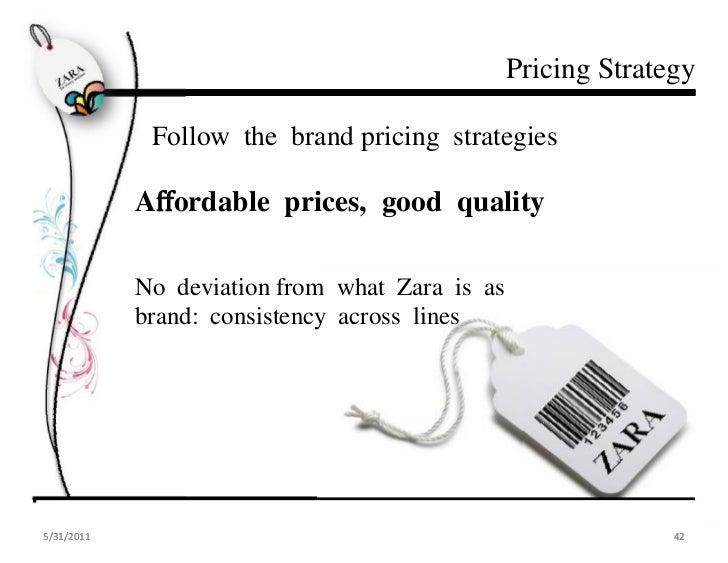 Zara pricing strategies
