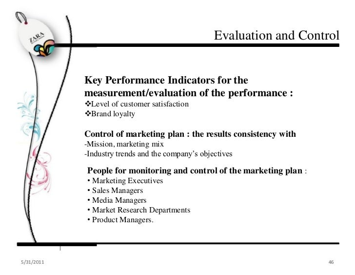 Zara marketing plan