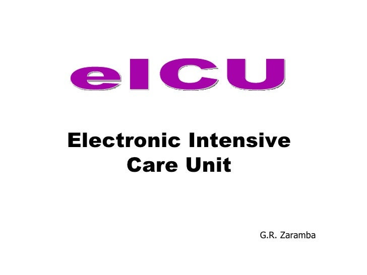 G.R. Zaramba eICU Electronic Intensive Care Unit