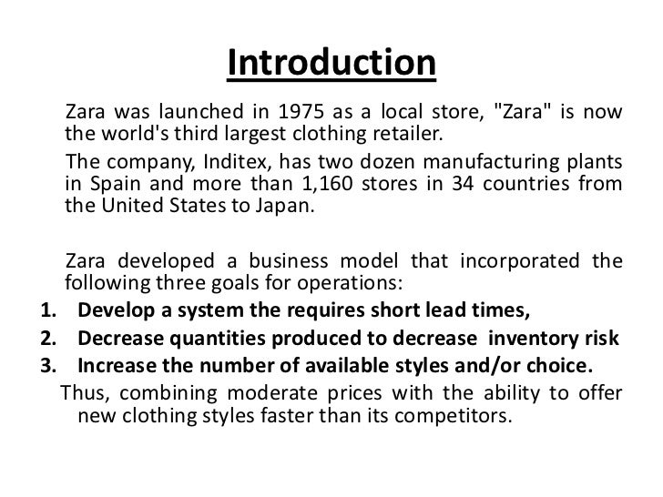 zara inventory management Spanish retailer zara has hit on a formula for supply chain  staff, from buyers to subcontractors, from warehouse managers to distributors, and so on.