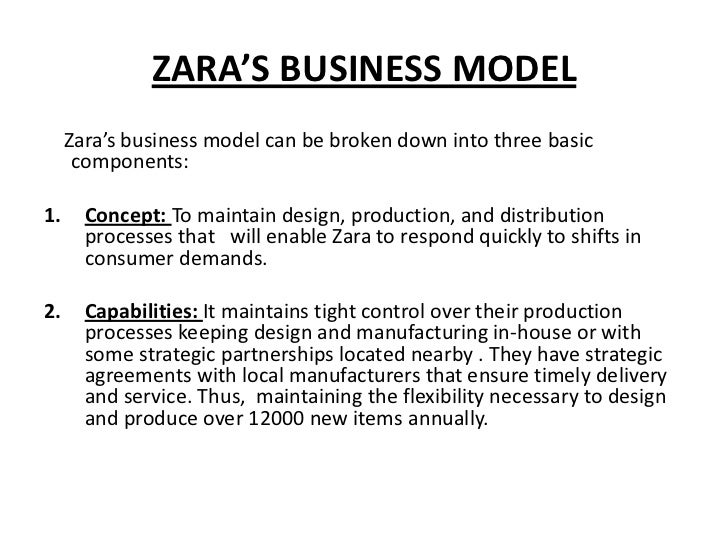 success factor for zara Value creation process in the fast fashion industry towards a networking approach lead time reduction the success factor of the fast a zara shirt, h & m pant.