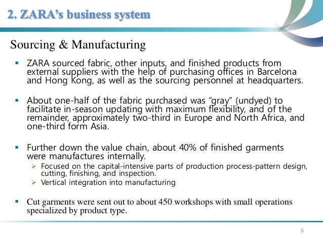 sourcing strategy of zara Better results come from strong regional strategies, brought together into a global  whole  in a cycle that takes between two and four weeks, zara designs and  makes  similarly, whirlpool is sourcing most of its small kitchen appliances  from.