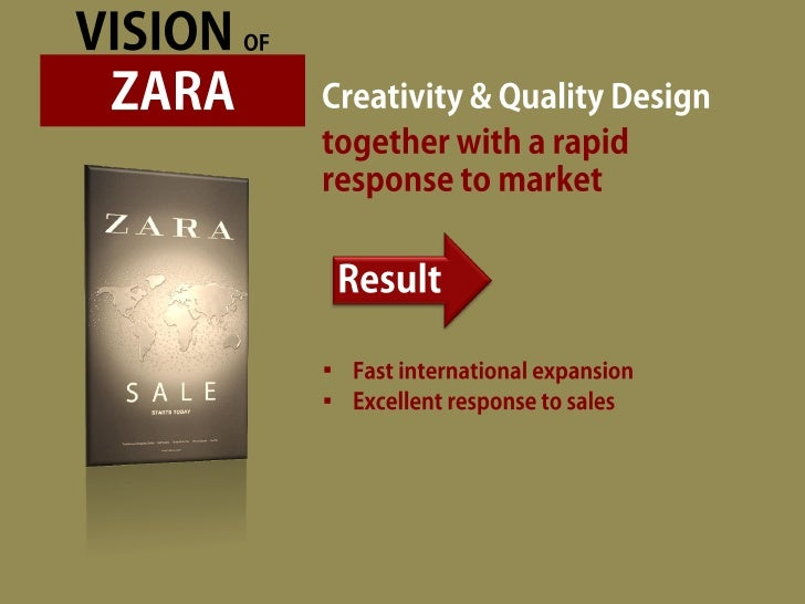 zara logistics The company zara is the largest clothes company in spain, founded in 1975 the secret to zara's competitive advantage is its supply chain no other competitor can copy its business model until it first copies its supply chain.