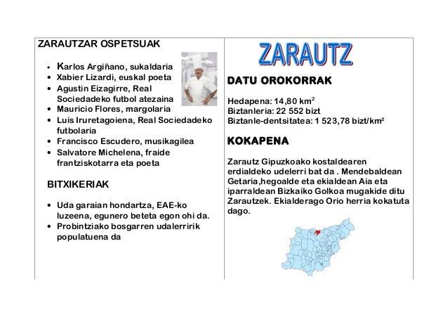 ZARAUTZAR OSPETSUAK • Karlos Argiñano, sukaldaria • Xabier Lizardi, euskal poeta • Agustin Eizagirre, Real Sociedadeko fut...