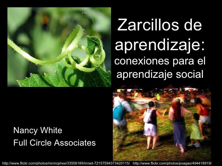 Zarcillos de aprendizaje:  conexiones para el aprendizaje social Nancy White Full Circle Associates http://www. flickr .co...
