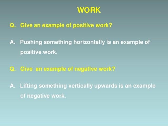 Why work is Zero ?