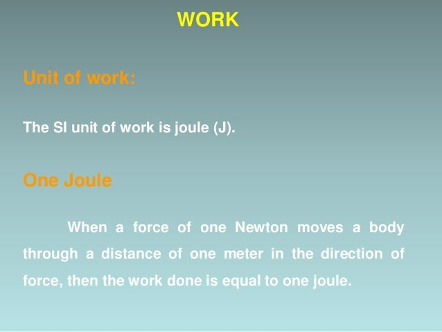 Positive Work CASES OF WORK When force and displacement are in the same direction Then  = 0° W = F d cos 0° = F d x 1 = F...