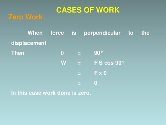 Example CASES OF WORK