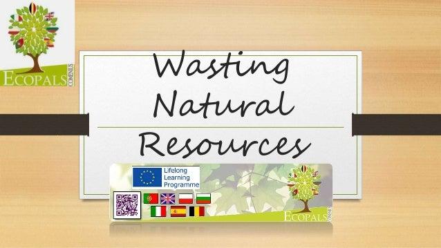 Wasting  Natural  Resources