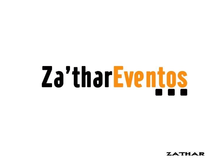 """Za'thar é uma produtora que traz em sua essência, a qualidade,precisão, objetividade e resultado.           O nome """"Zathar..."""