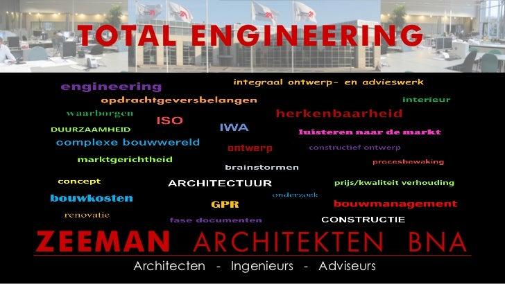TOTAL ENGINEERINGZEEMAN ARCHITEKTEN BNA    Architecten - Ingenieurs - Adviseurs