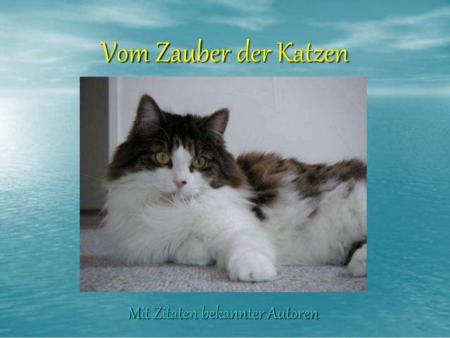 Vom Zauber der Katzen  Mit Zitaten bekannter Autoren