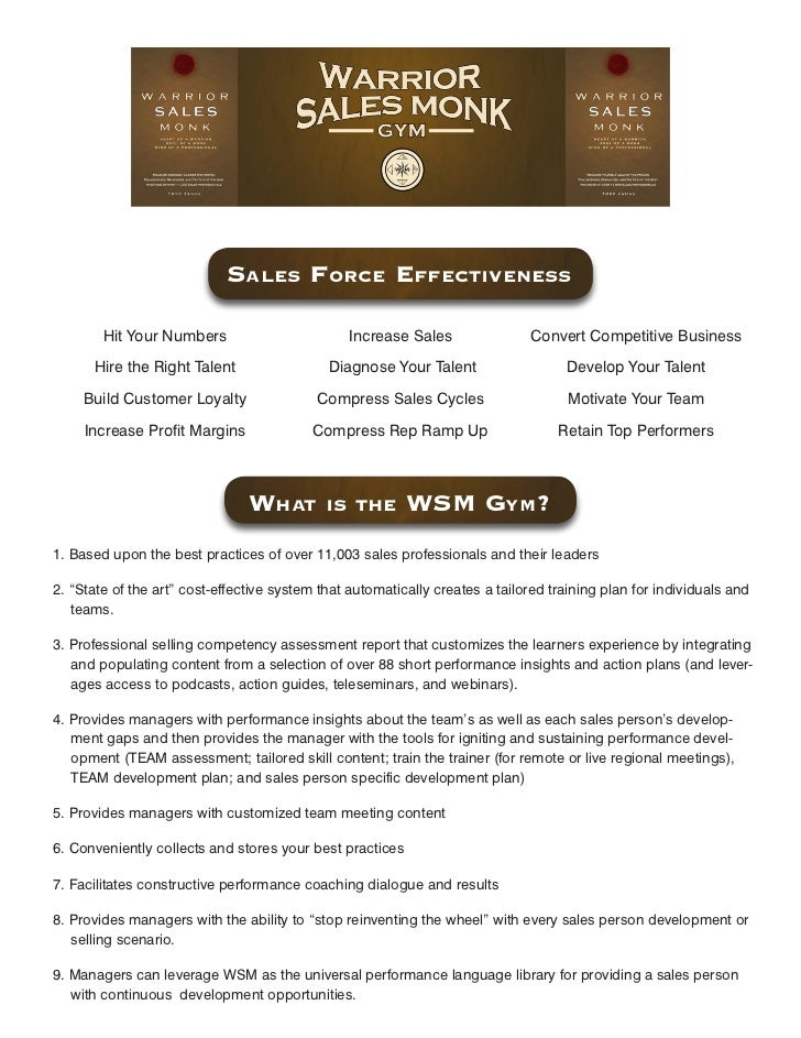 SaleS Force eFFectiveneSS          Hit Your Numbers                        Increase Sales                Convert Competiti...