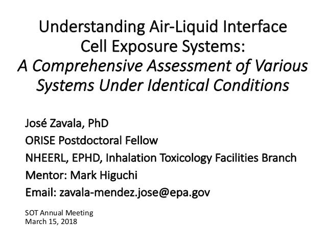 Understanding Air-Liquid Interface Cell Exposure Systems: A Comprehensive Assessment of Various Systems Under Identical Co...