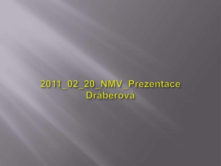 2011_02_20_NMV_Prezentace Dráberová<br />