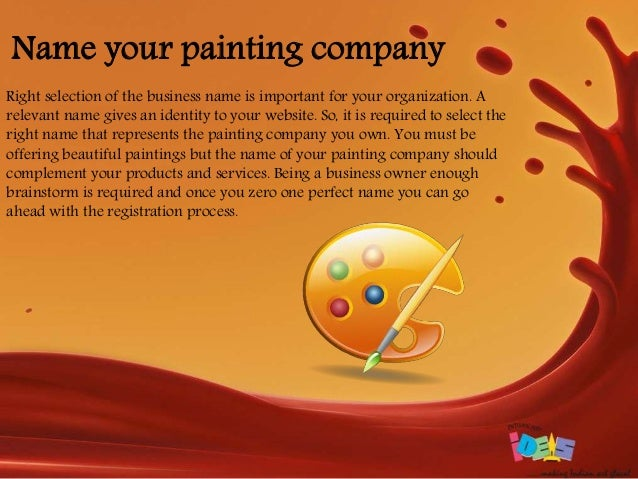Name Your Painting Company