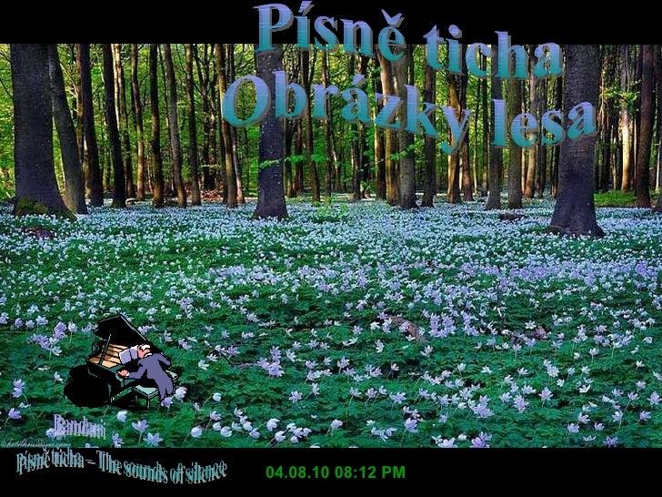 04.08.10   08:12 PM Písně ticha Obrázky lesa
