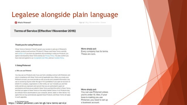 Legalese alongside plain language https://about.pinterest.com/en-gb/new-terms-service