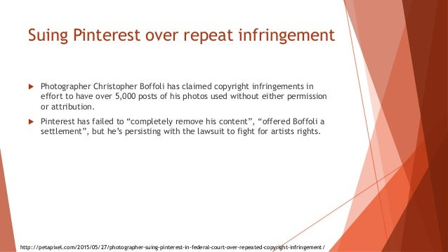Suing Pinterest over repeat infringement  Photographer Christopher Boffoli has claimed copyright infringements in effort ...