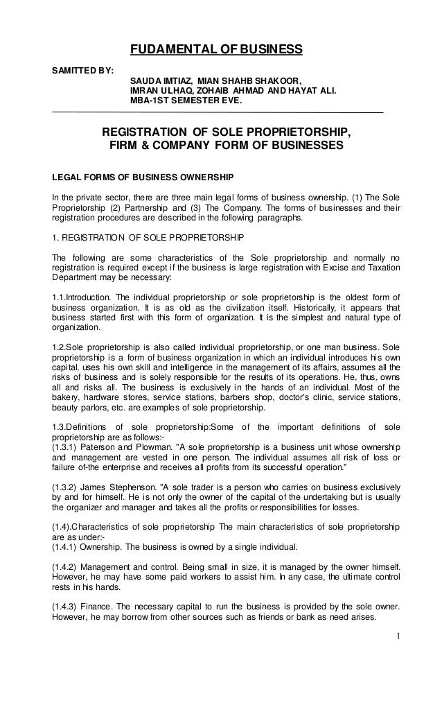 1 FUDAMENTAL OF BUSINESS SAMITTED BY: SAUDA IMTIAZ, MIAN SHAHB SHAKOOR, IMRAN ULHAQ, ZOHAIB AHMAD AND HAYAT ALI. MBA-1ST S...