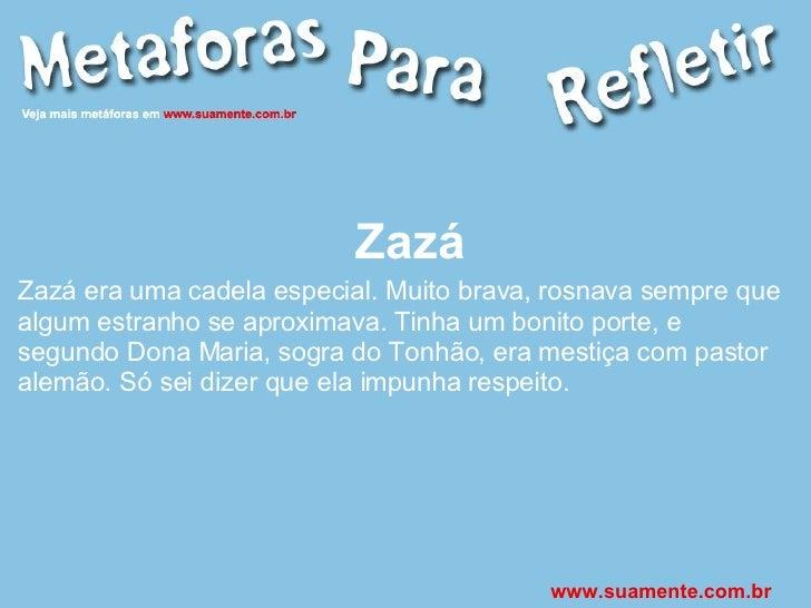 Zazá Zazá era uma cadela especial. Muito brava, rosnava sempre que algum estranho se aproximava. Tinha um bonito porte, e ...
