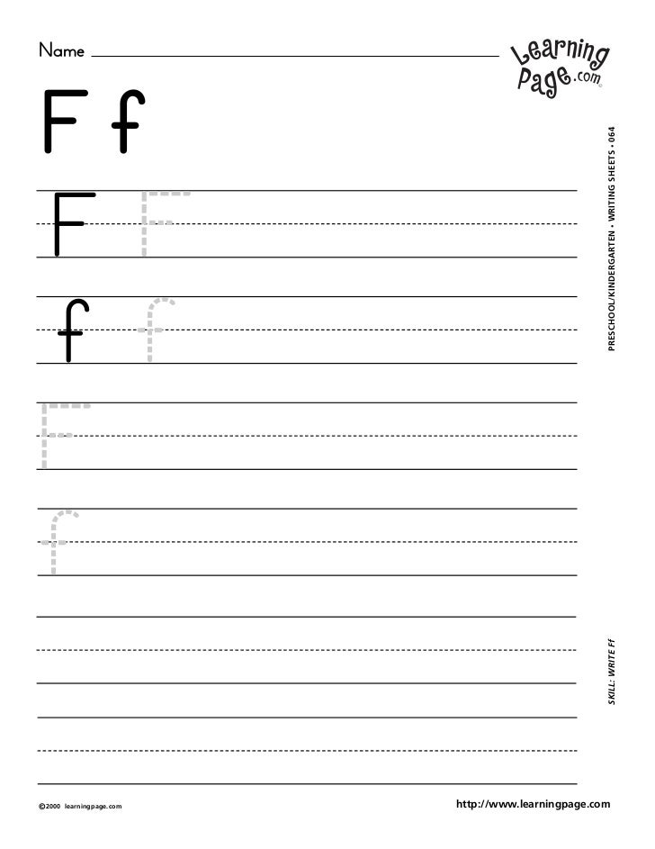 NameFf                                                     WRITING SHEETS • 064FF                                         ...