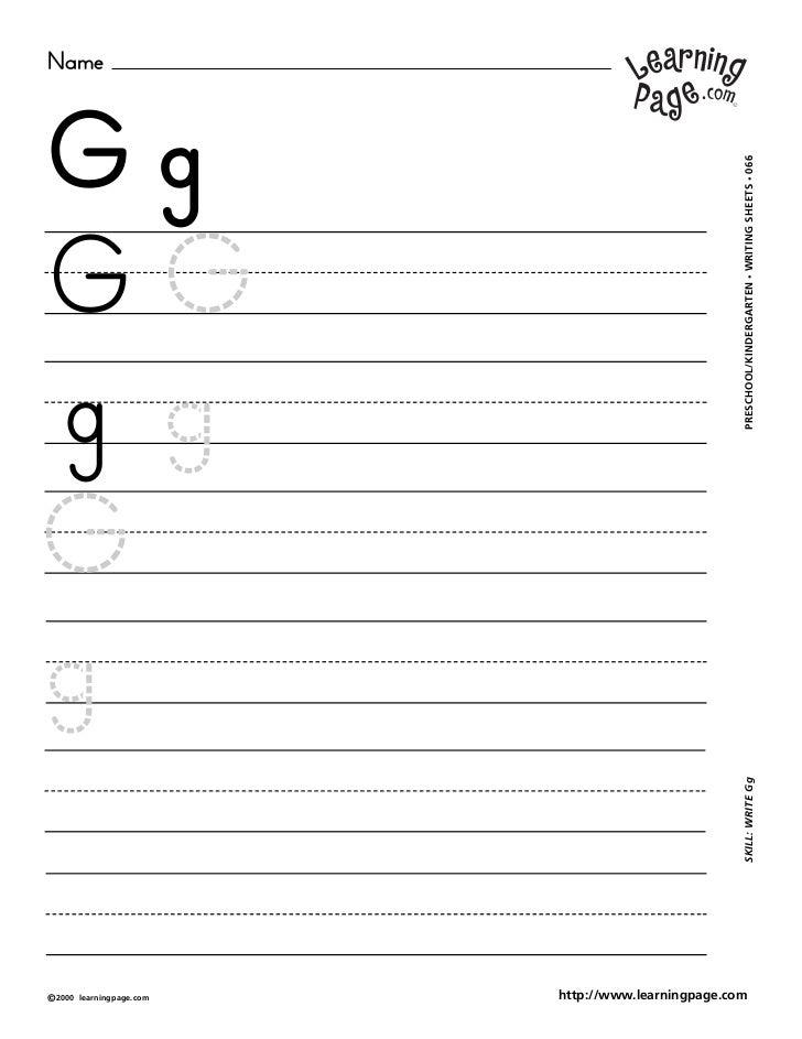 NameGg                                                     WRITING SHEETS • 066GG                                         ...