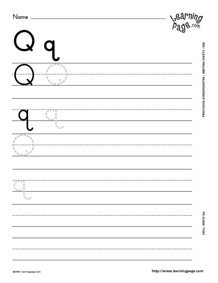 NameQq                                                     WRITING SHEETS • 086QQ                                         ...