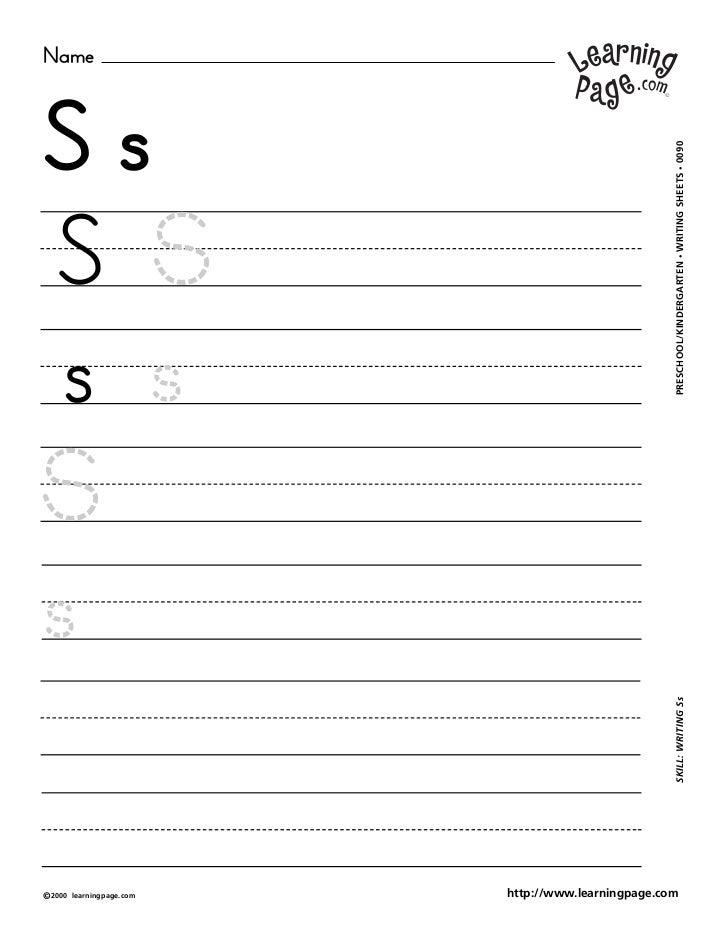 NameSs                                                     WRITING SHEETS • 0090S S                                       ...