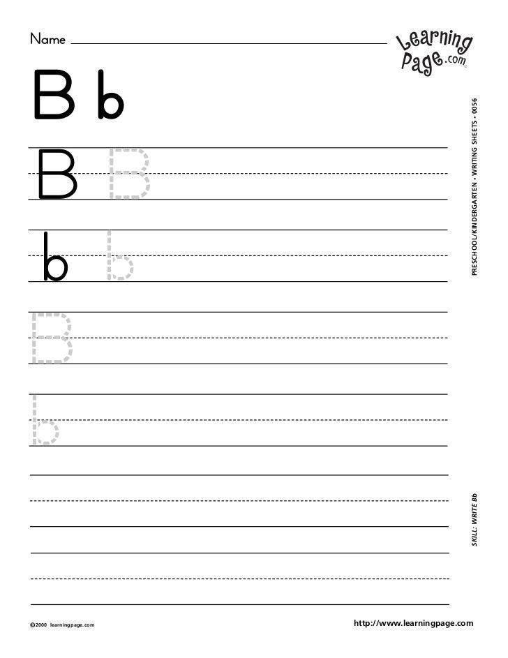 NameBb                                                     WRITING SHEETS • 0056BB                                        ...