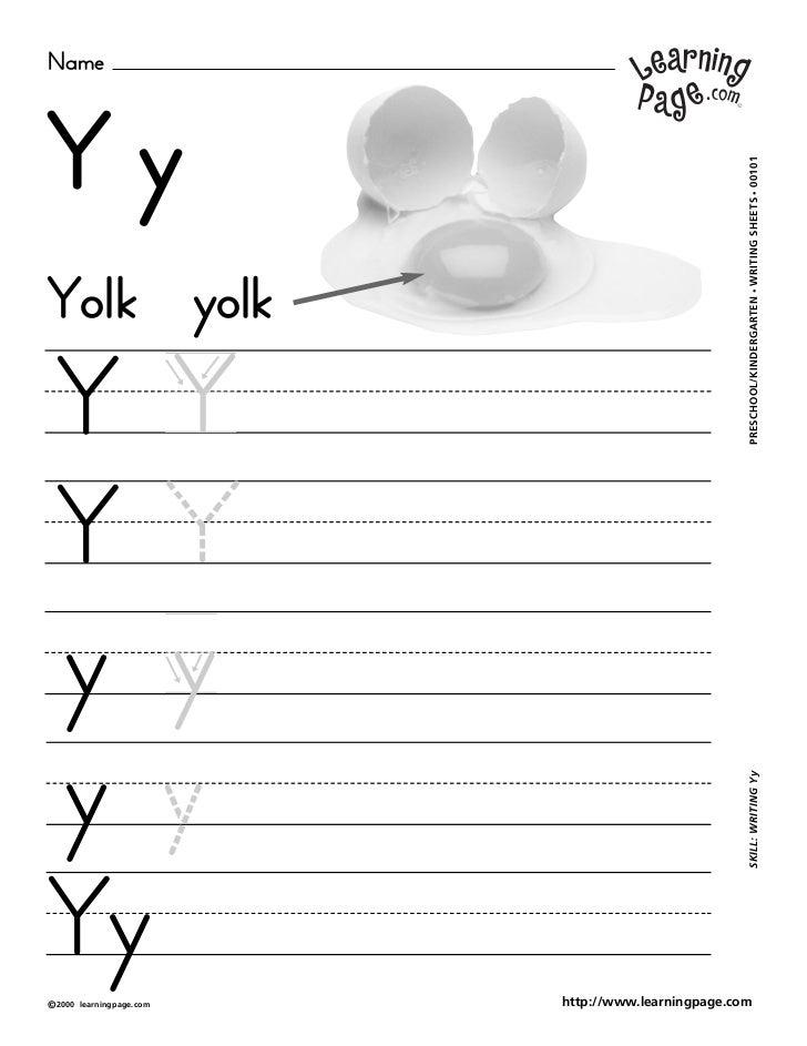 NameYy                                                     WRITING SHEETS • 00101Yolk yolk                                ...